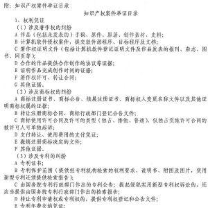 深圳中级法院知识产权案件举证指引